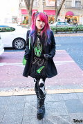 """Dead Girl"" Lisa in Harajuku w/ Pink-Purple Hair & Kreepsville 666"