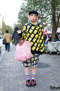 Pastel Braids w/ Simpsons Prints, Jeremy Scott, & Mishka in Shinjuku