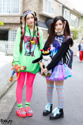 Cute Twin Tails, Unicorn, Neon, Clear Backpack & 6%DOKIDOKI in Harajuku