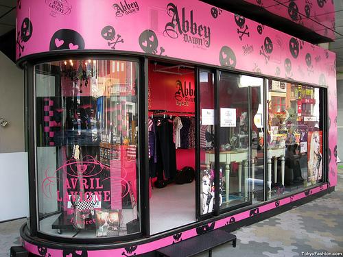 Avril Lavigne AbbeyDAWN Shop in Harajuku