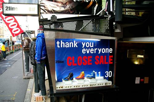 2Line Harajuku Shop Closing