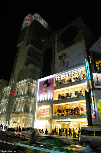 Forever 21 Harajuku – The Night Before Opening Day