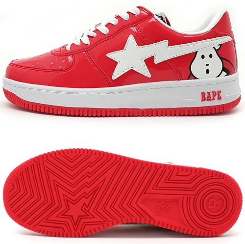 Red Bathing Ape Ghostbusters Sneakers
