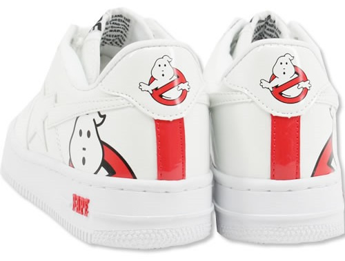 White BAPE Ghostbusters Shoes
