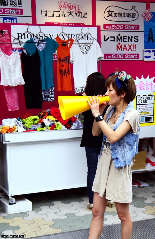 Japanese Fashion Sales Girl