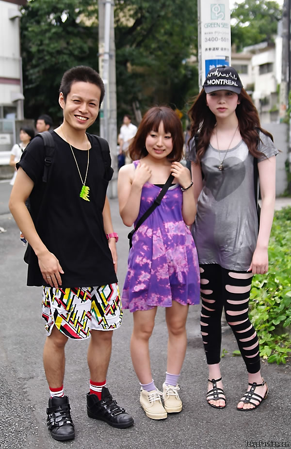 Ripped Leggings Girl in Harajuku