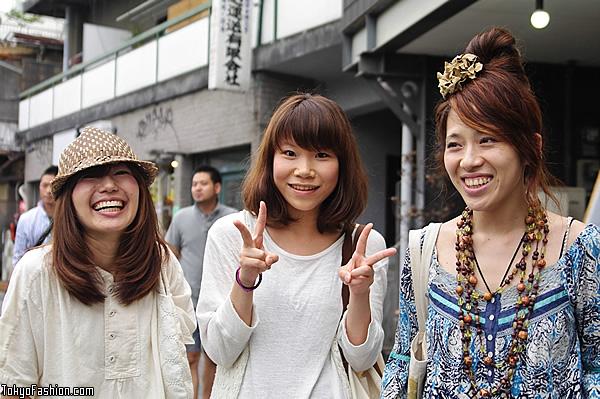 Three Smiley Japanese Girls