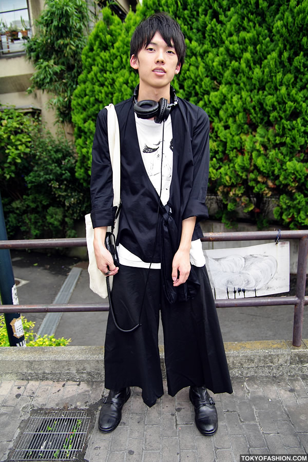 Wide Leg Pants \u0026 Headphones in Harajuku