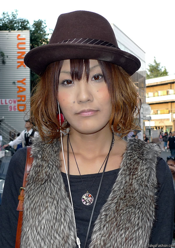 Japanese Girl in Fedora Hat