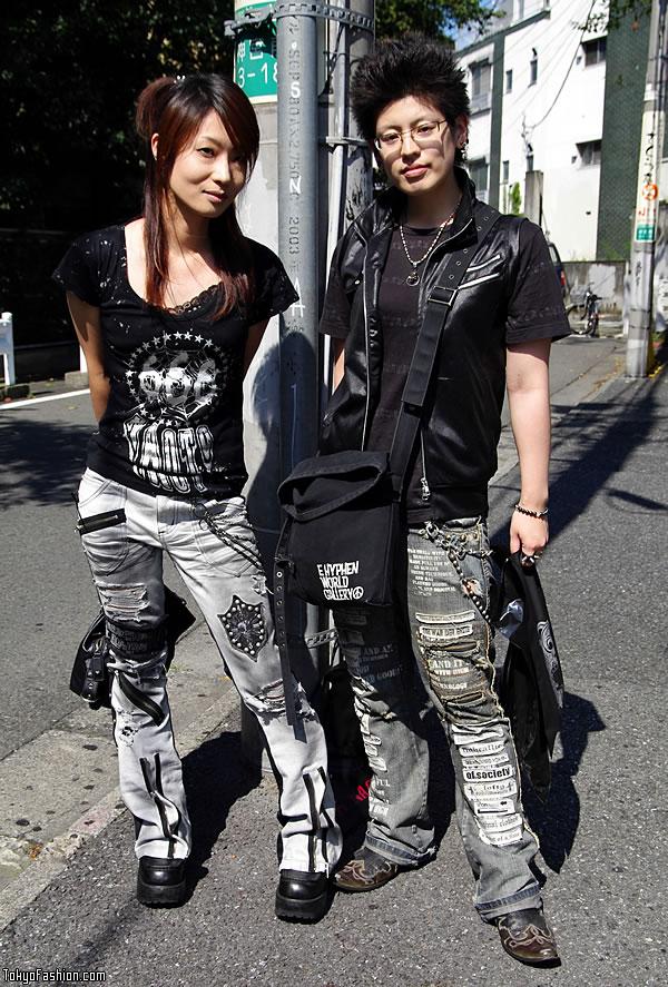 Harajuku Gothic/Punk Style on Cat Street