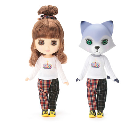 Cat Head & Girl Doll