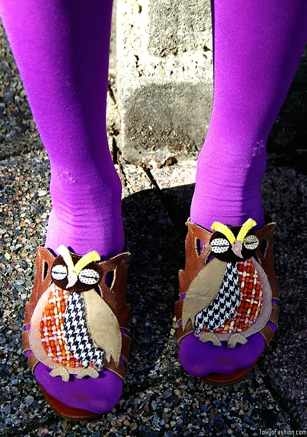 Cute Japanese Owl Shoes