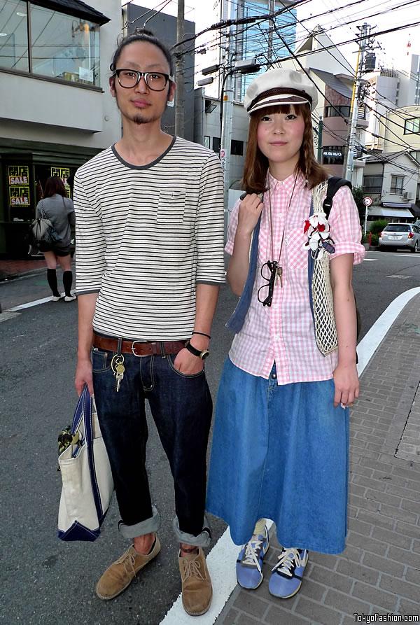 Captain's Hat & Long Denim Skirt