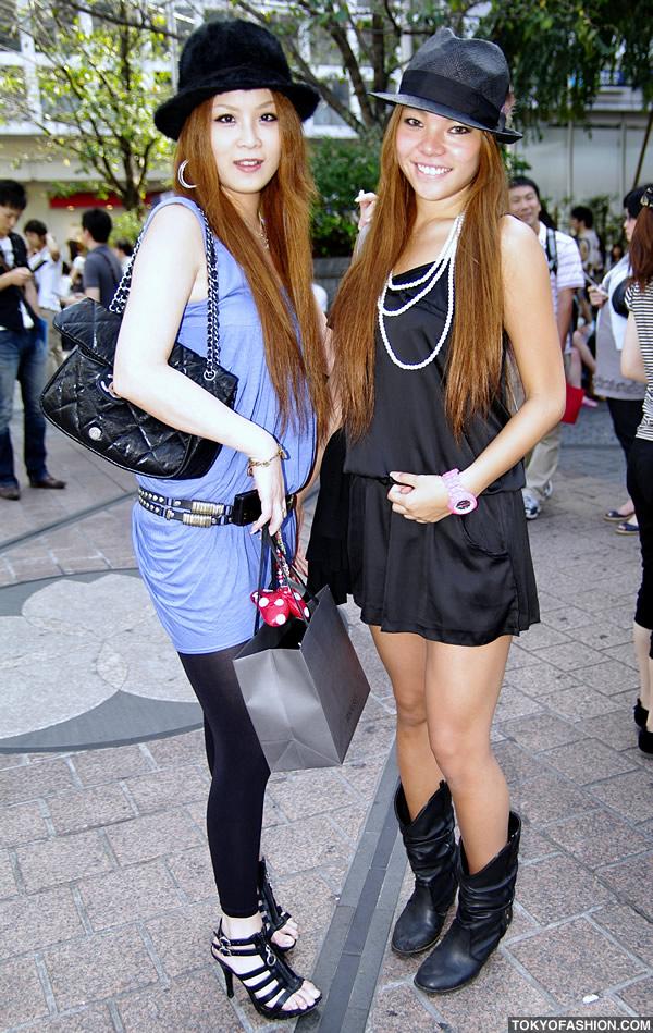 Blonde Shibuya Girls in Fedora Hats