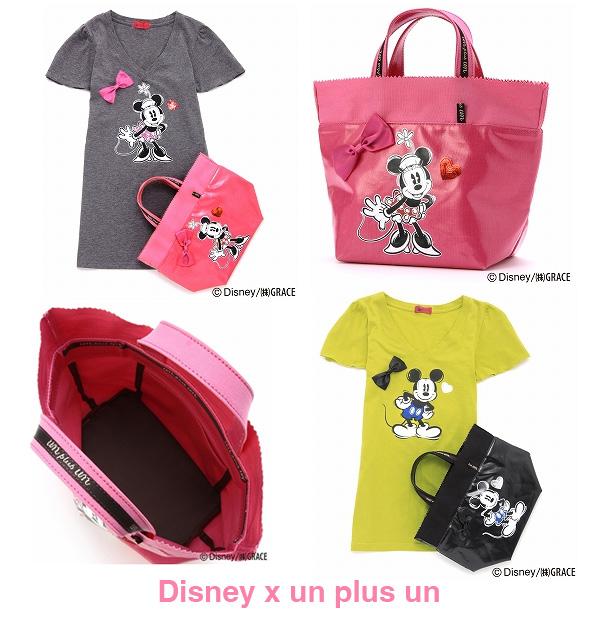 Disney x un plus un t-shirts and bags
