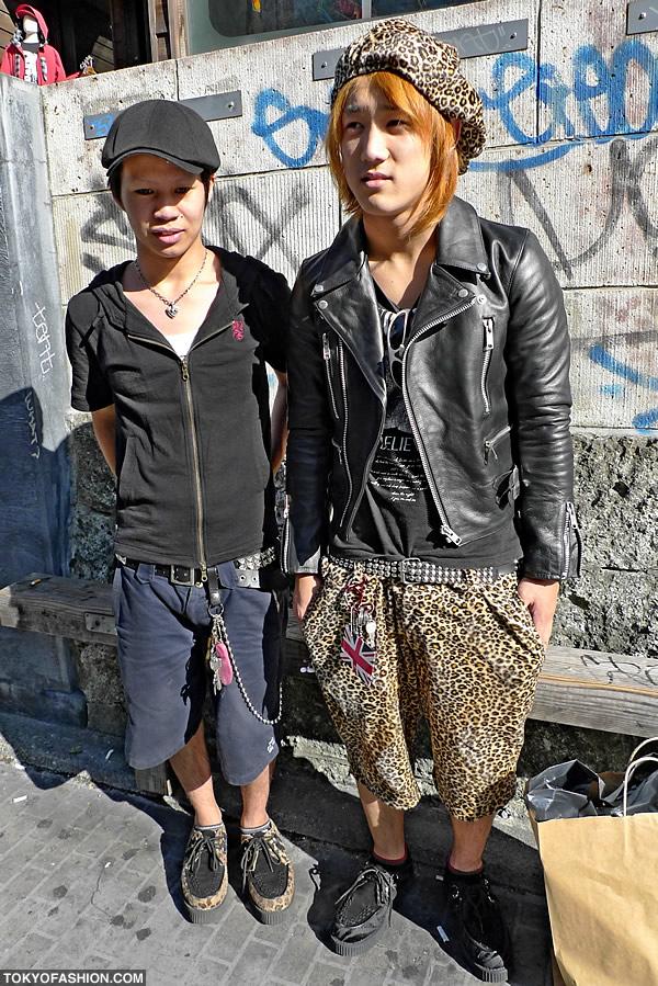 Leopard Print Guys Fashion in Harajuku