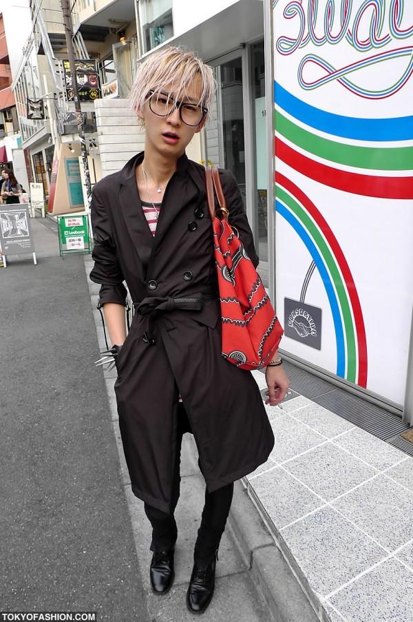Harajuku Guy With Longchamp x Jeremy Scott Bag