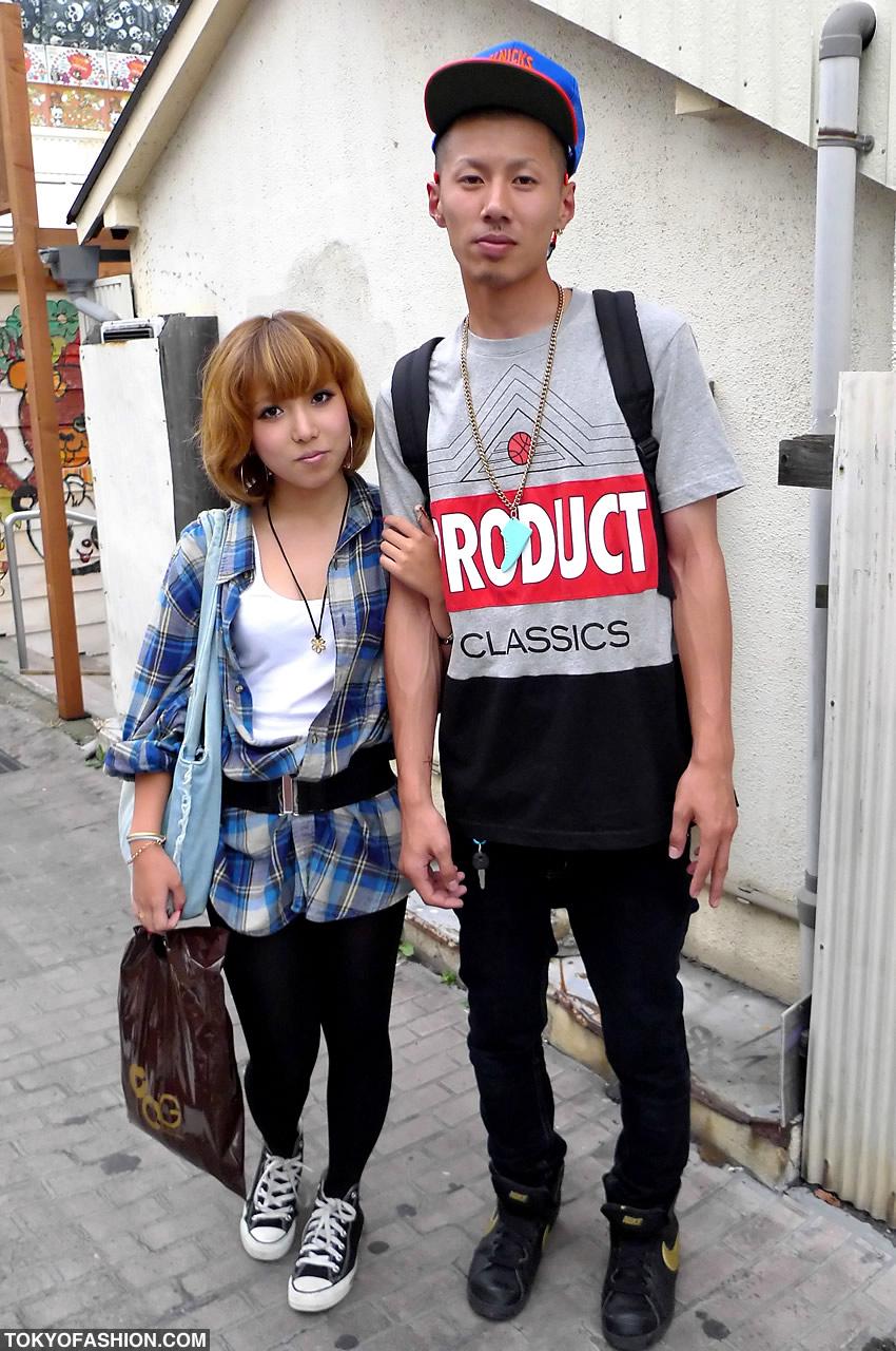Sneaker Necklace Amp Black Stockings In Harajuku