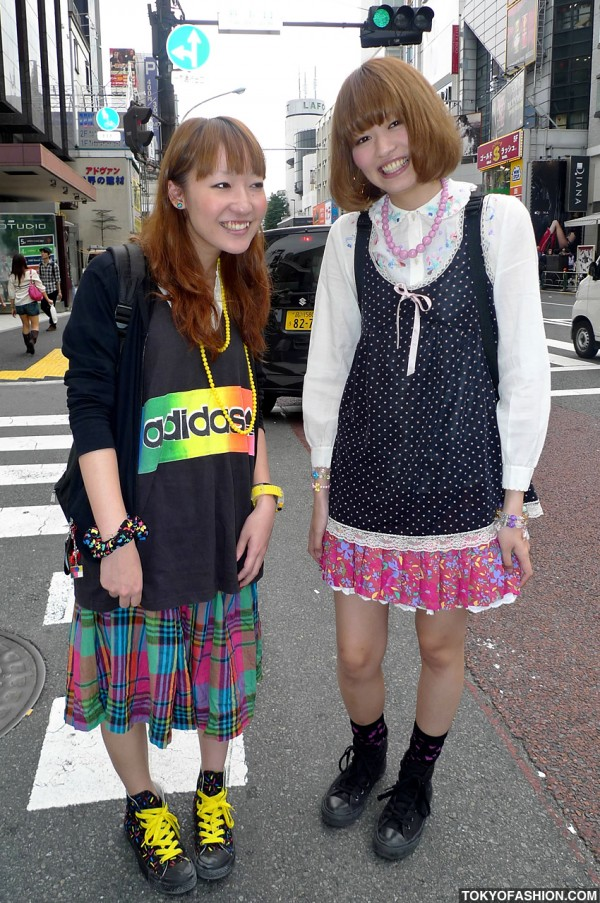 Cute Smiling Harajuku Girls