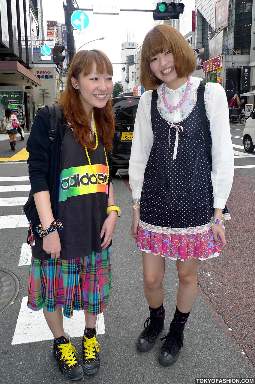86045c7e7ebcb5 Adidas   Converse Girls in Harajuku