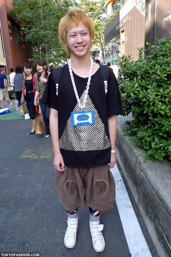 Lego Jewelry & Blonde Hair in Harajuku