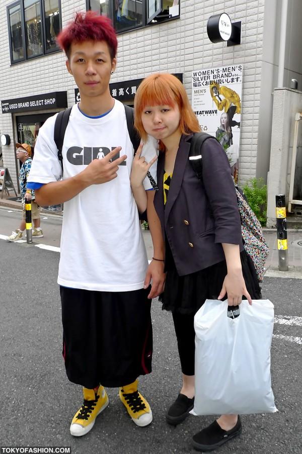 Red Hair Guy vs. Orange Hair Girl in Harajuku