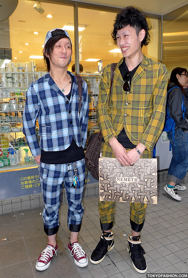Plaid Suits With Cropped Pants in Harajuku