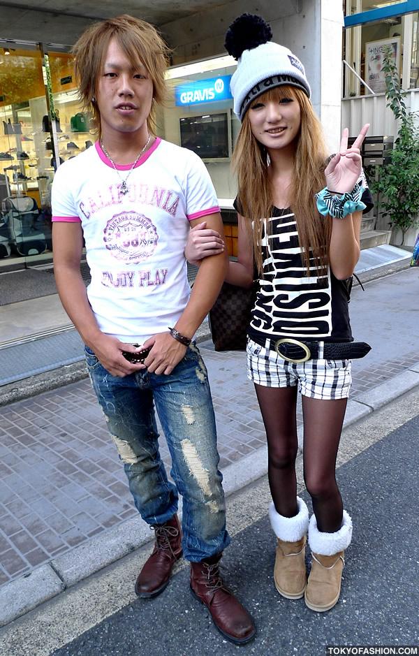 Beanie and Short Shorts Girl