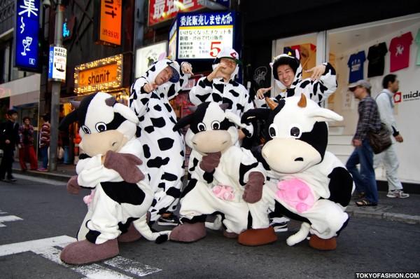 Cows on Center Street in Shibuya