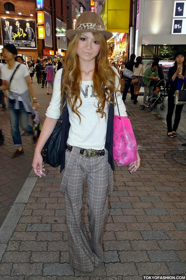 Shibuya Girl With Suspenders