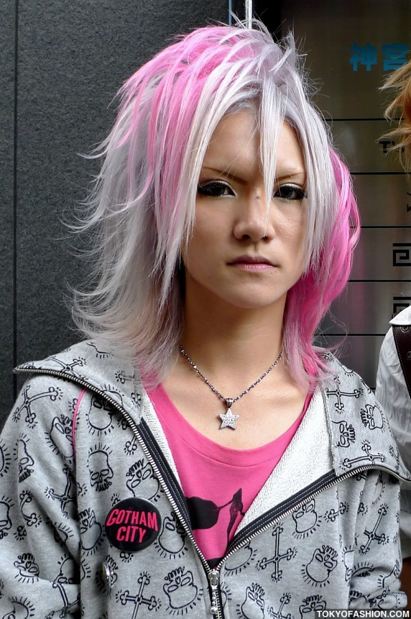 Shibuya Guy With Pink Hair
