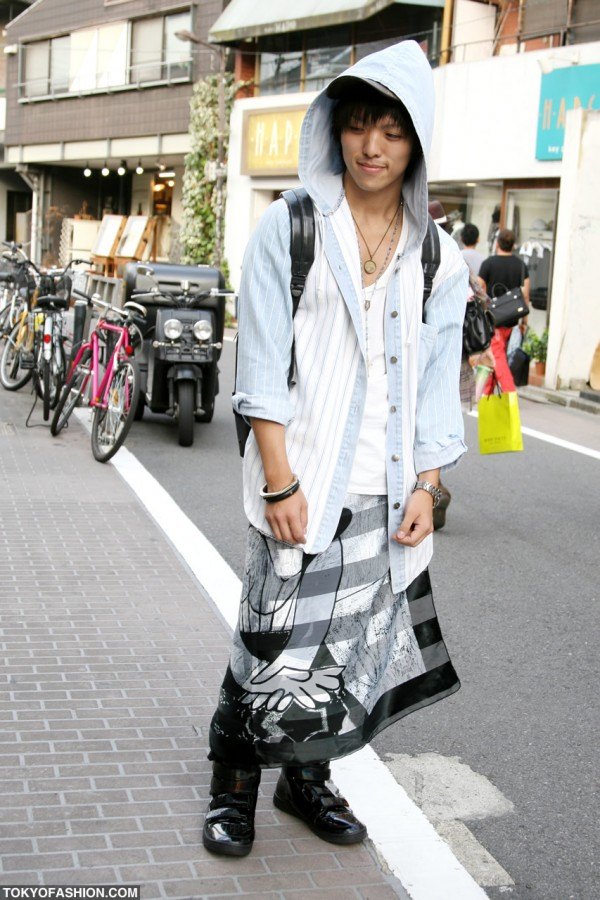 Japanese Guy in Cool Skirt