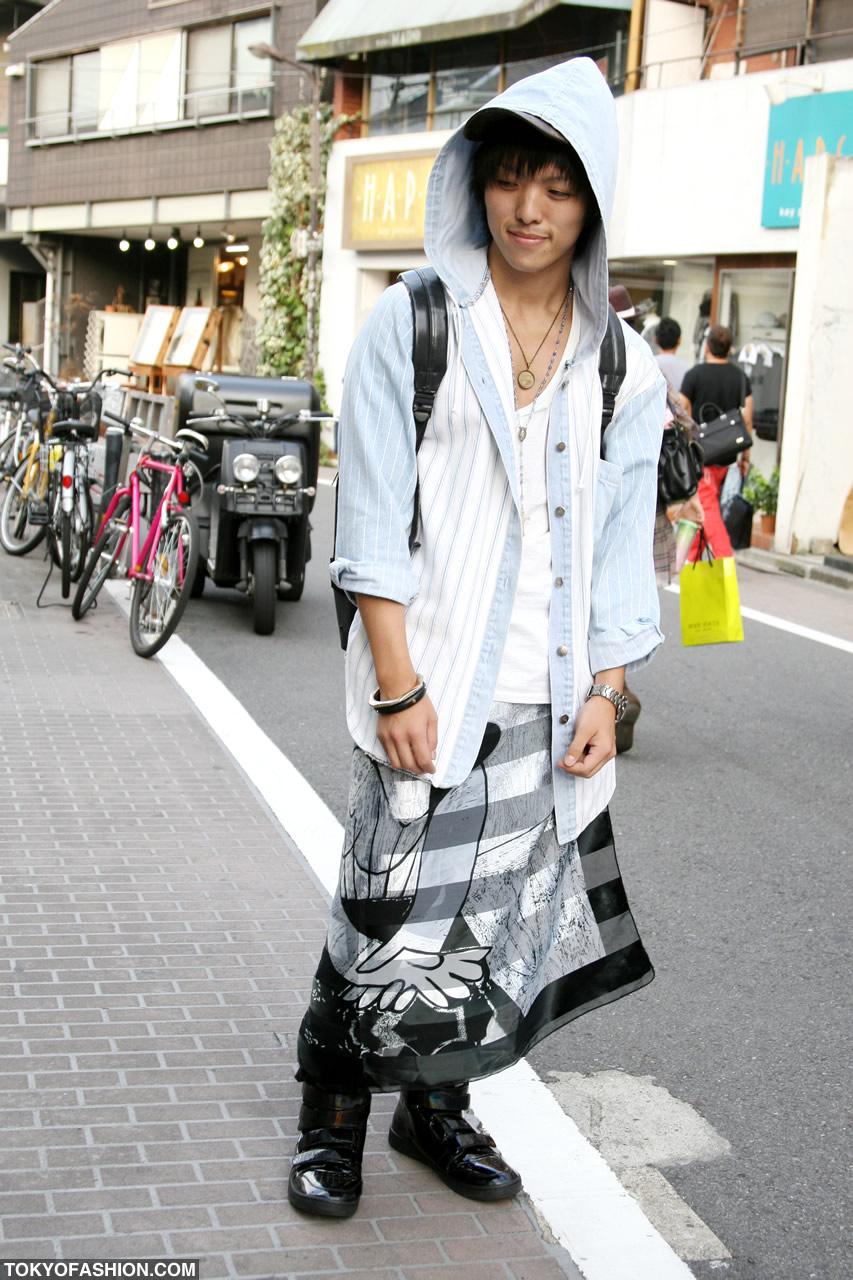 Japanese Guy in Skirt and Hood