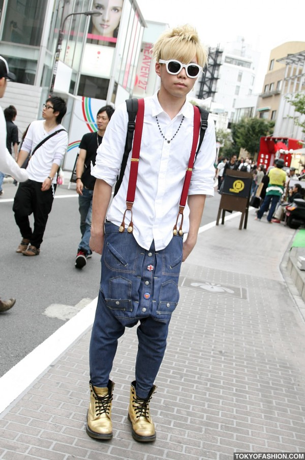 Harajuku Guy in Suspenders