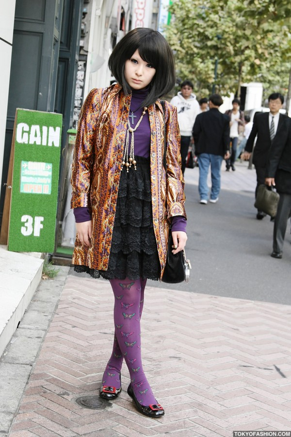 Halloween Nail Art Girl in Shibuya