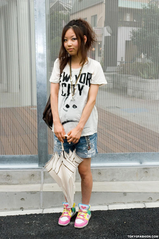 World Wide Love T Shirt Girl In Shibuya