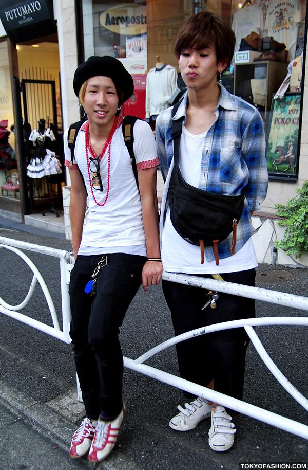 Hoop Earrings & Beret Guys in Harajuku
