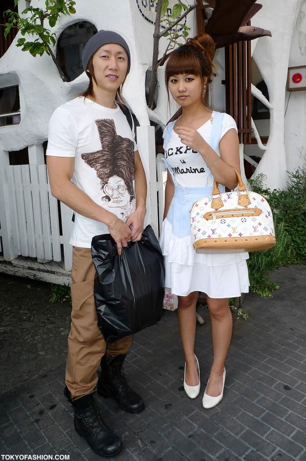 Louis Vuitton Bag & Combat Boots