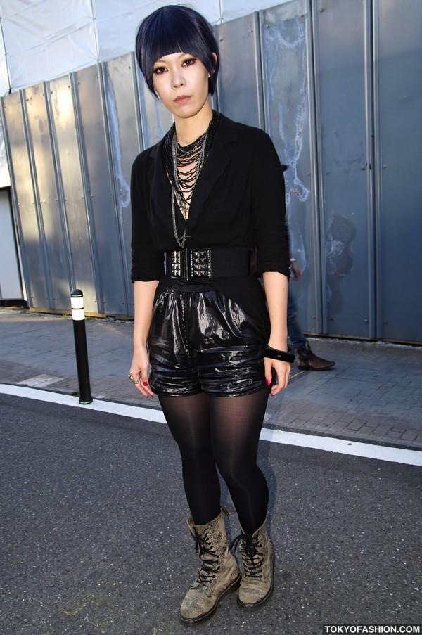 Stylish Black Fashion in Harajuku