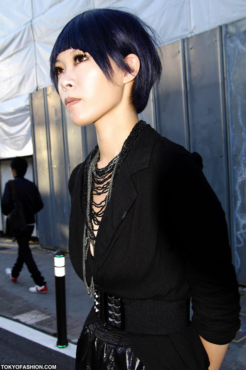 Super Black Amp Blue Japanese Bob Hairstyle In Harajuku Hairstyles For Men Maxibearus