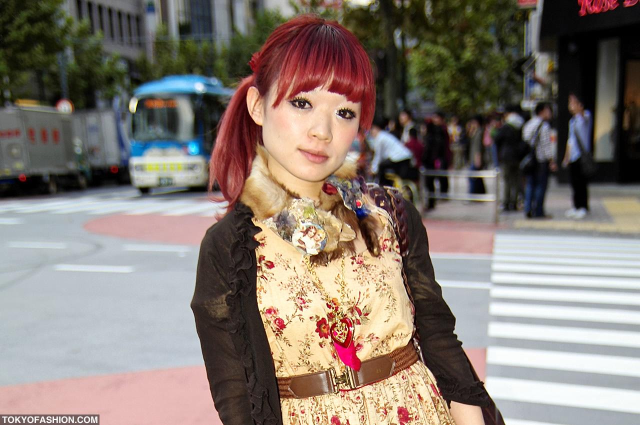 Japanese Girl Red Hair