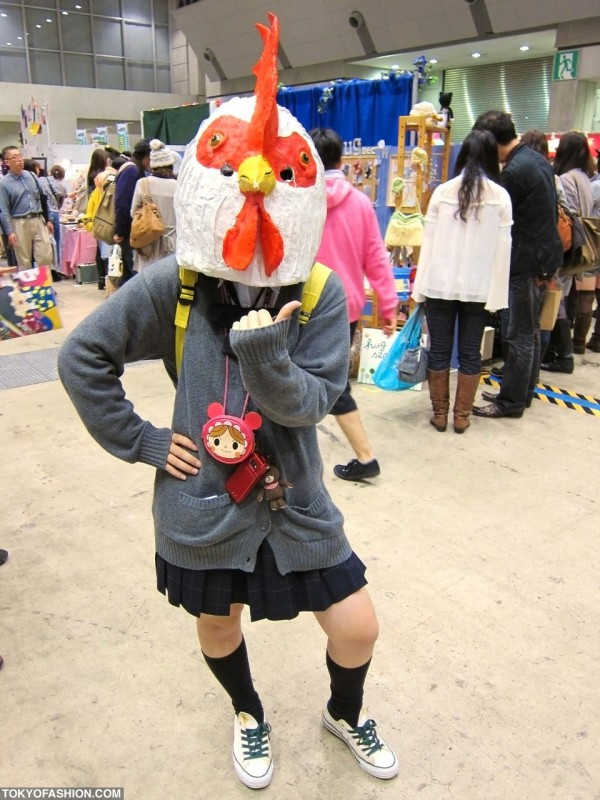 Japanese Girl With Chicken Head