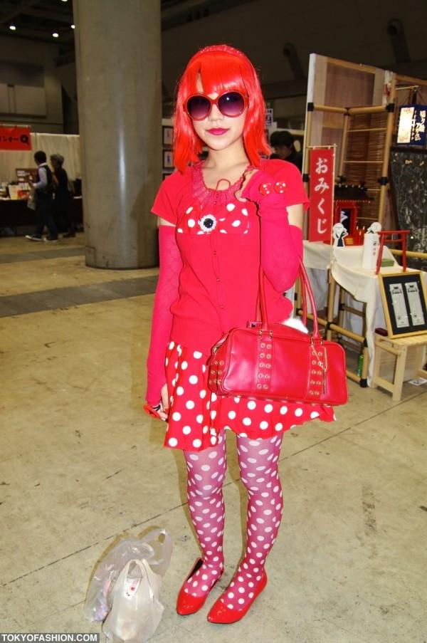 Red Japanese Girl