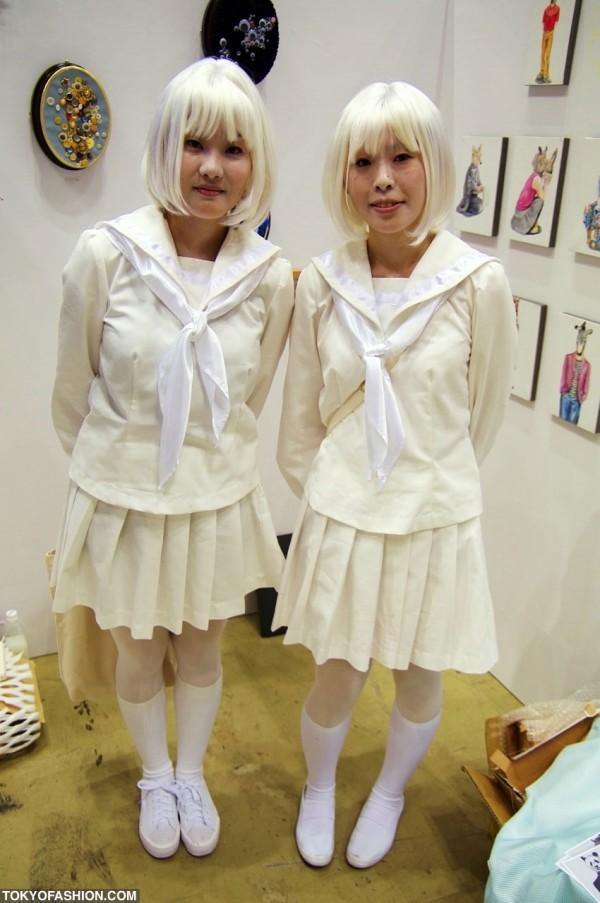 Japanese Girls Dressed in White