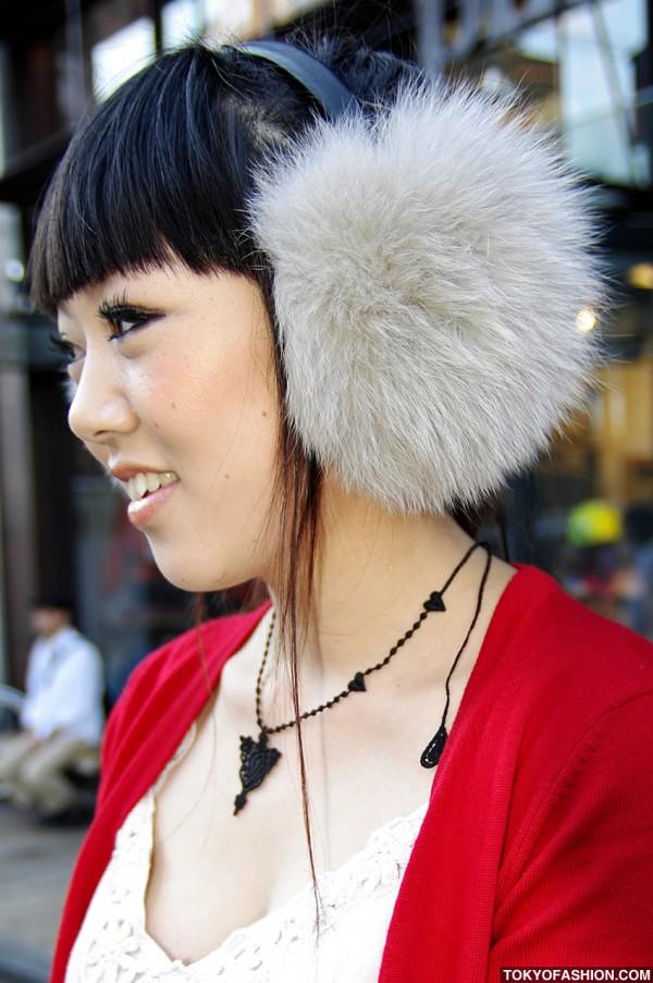 Fur Ear Muffs in Tokyo