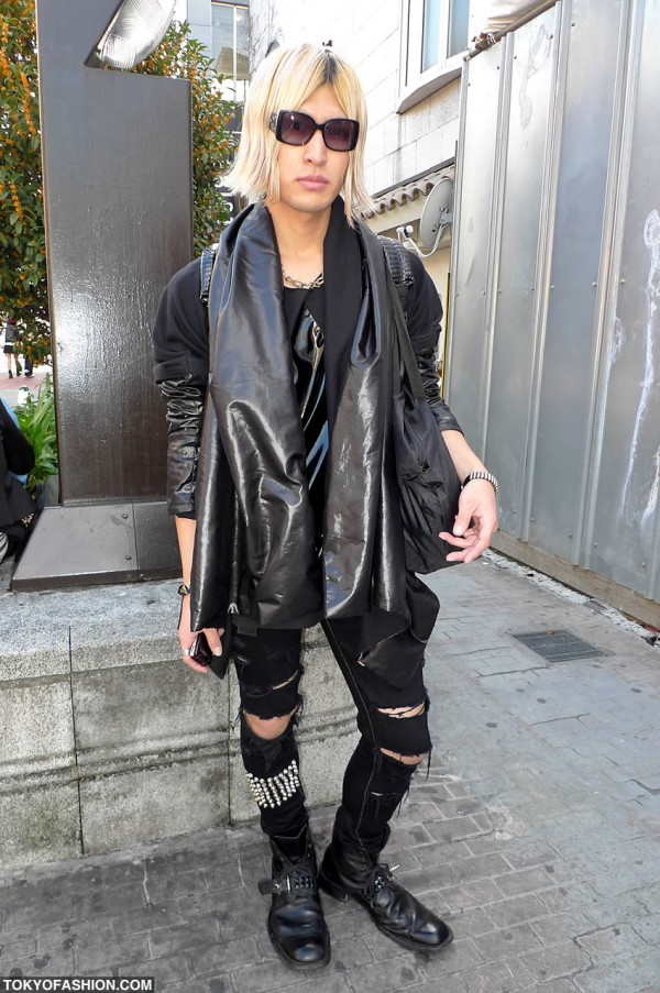 Spiked Boots & All Black Fashion in Tokyo