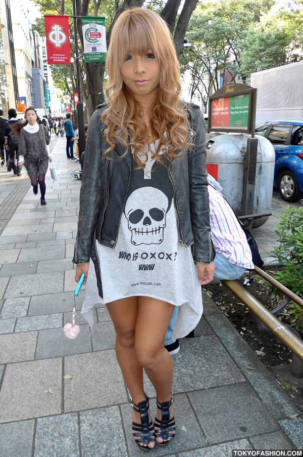 Skull With Mouse Ears Dress in Harajuku