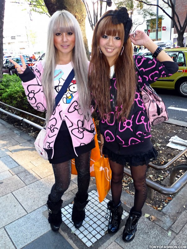 Cute Japanese Hello Kitty Girls