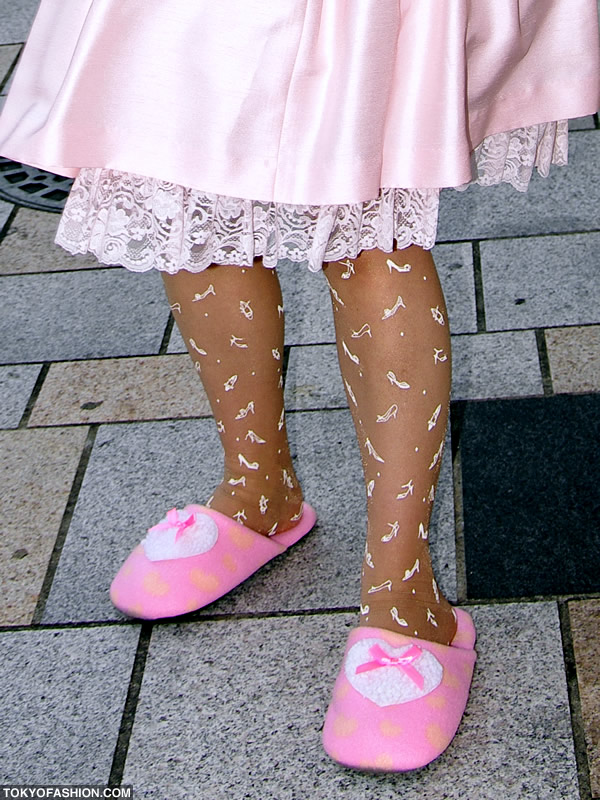 Pink Lolita Slippers