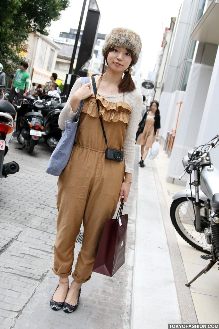 Cute Fur Hat Amp Jumper Girl In Harajuku